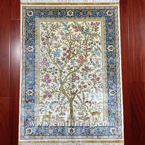 1a 3 3x5 Tree Of Life Decorative Flower Bird Wall Hanging Art