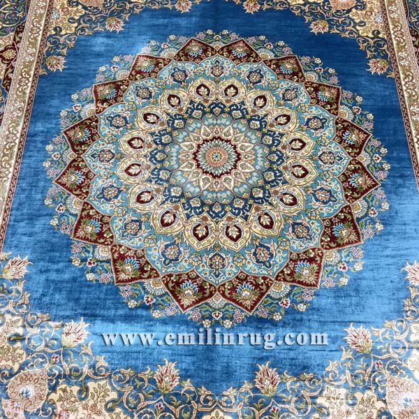 medallion silk carpet