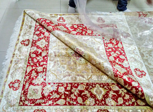 square silk carpet